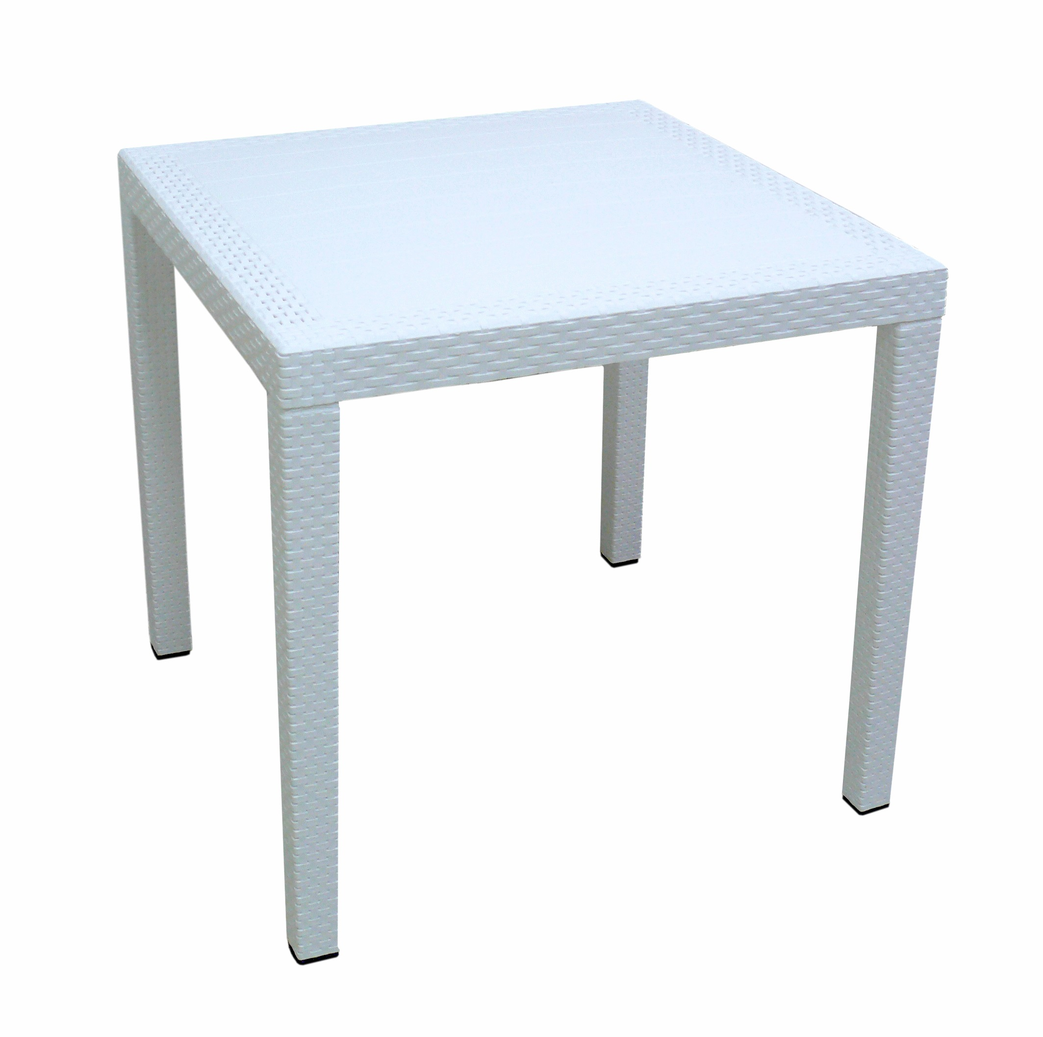 Levně KASVO RATAN LUX stůl polyratan 71x75,5x75,5 Okrová