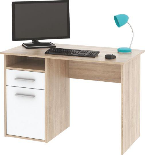 Kasvo MIRO PC stůl dub Sonoma / bílá