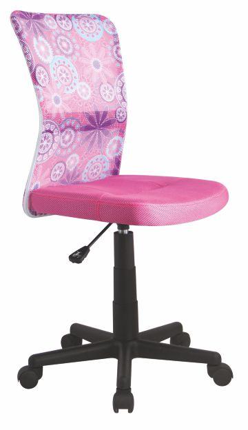 Kasvo DINGO židle růžová květovaná