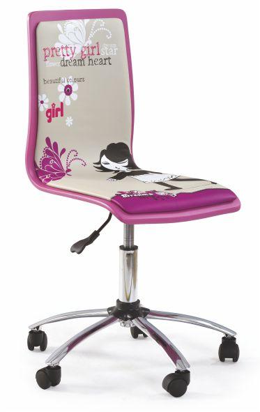Kasvo FUN kanc.židle ekokůže růžová