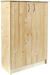 Dřevěná dvoudveřová komoda M2-2D - smrk smrk