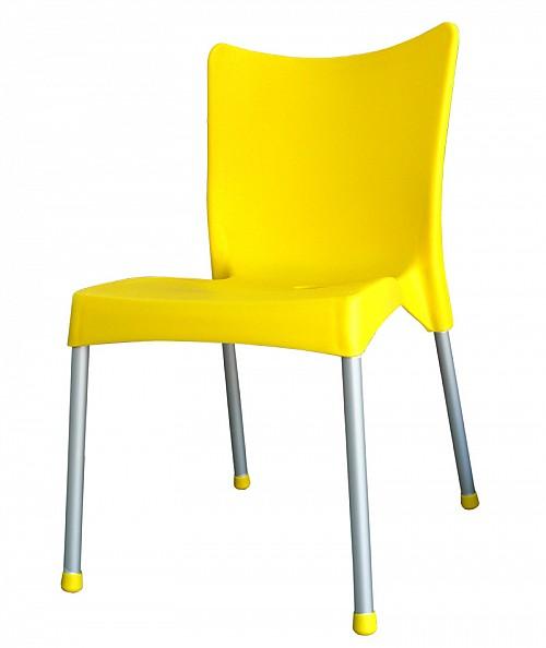 Zahradní plastová židle VITA AL/PP Žlutá