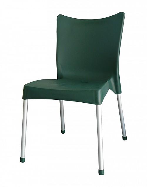 Zahradní plastová židle VITA AL/PP Tmavě zelená