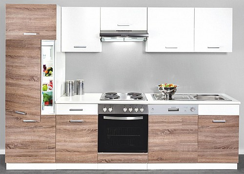 Kuchyňská linka MAT 280 cm bílá /truffel