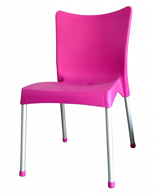 Zahradní plastová židle VITA AL/PP Růžová
