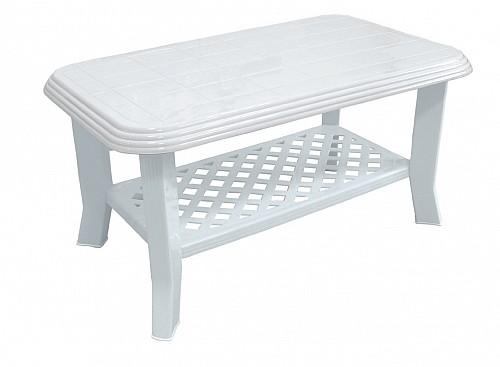 Menší stabilní zahradní stůl CLUB PP 44x55x90 Bílá