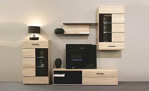 Moderní obývací stěna SOUL  dub son/dub denver