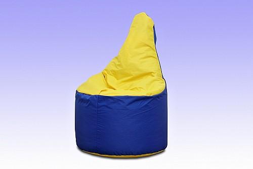 KŘESÍLKO sedací pytel modro/žlutá