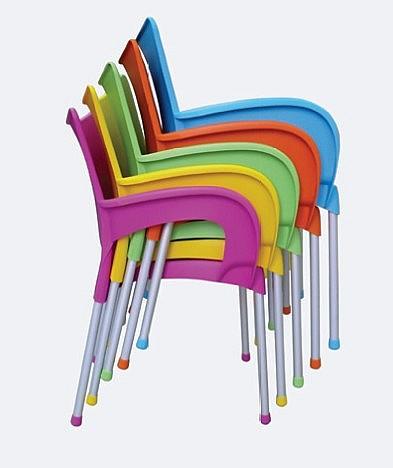 Židle DOLCE AL/PP plastová Krém