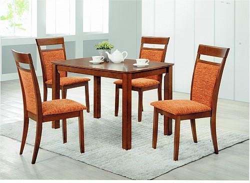 Jídelní stůl MAREK + jídelní židle ANETA 1+4 Ořech / Nikita 22