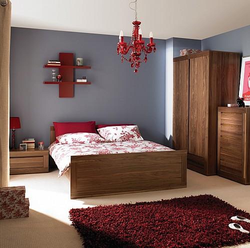 Dýhovaná manželská postel CHUNKY 160x200 cm  dub