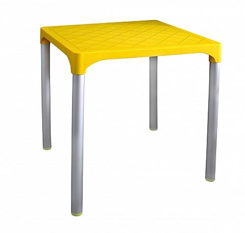 Zahradní plastový stůl VIVA  Žlutá