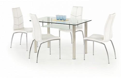 Jídelní stůl OLIVER chrom / sklo / mléčné sklo