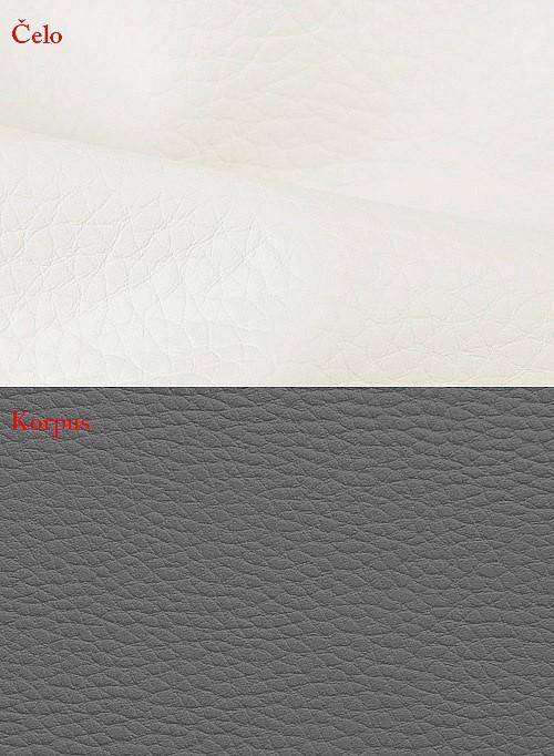 Postel BIBIANA 2 140x200 cm vč. roštu a ÚP eko šedá/bílá