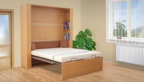 VS 1070P postel výklopná 140cm včetně roštu bílá