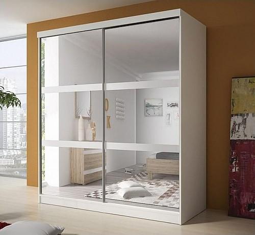 Šatní skříň MULTI 10 233 cm bílá/bílá