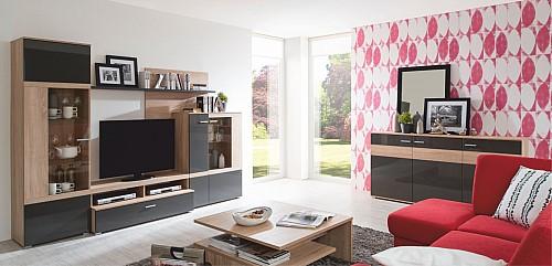 Nadčasová obývací stěna CENTA bardolino/grafit