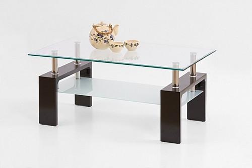 Konferenční stolek INTRO černý / sklo