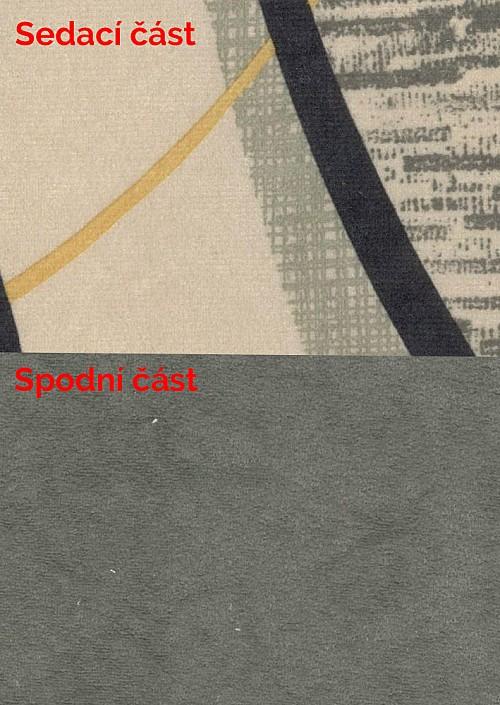 Postel ALICE 120x200 cm vč. roštu, matrace a ÚP šedá / šedá vzor