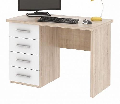PC stůl ROLLO dub sonoma/bílá