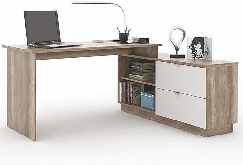 PC stůl VE 01 canyon/bílá