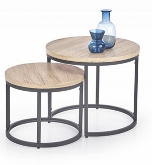 Konferenční stolek OREO sestava stolků san remo/ kov černý
