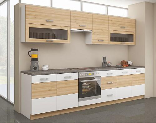 Moderní kuchyňská linka ICONIC  260 Buk / bílá