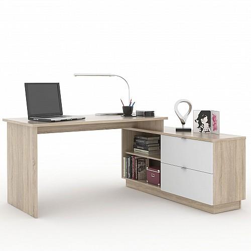PC stůl VE 01 dub sonoma/bílá