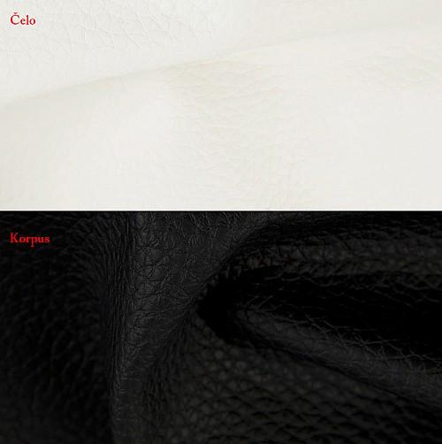 Postel BIBIANA 2 160x200 cm vč. roštu a ÚP eko černá/bílá