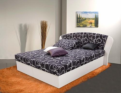 Čalouněná manželská postel KAROLÍNA 7 170x200 cm vč. roštu, matrace a ÚP sant or/bert.or