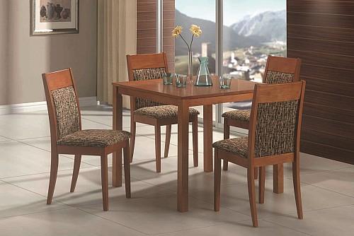 Jídelní stůl LUKÁŠ +židle DITA 1+4 Třešeň