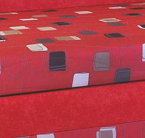 Postel LENKA - HIT 170x200 vč. roštu, matrace a ÚP červená