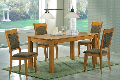 Jídelní stůl TIBOR stůl+ židle PETRA1+4 Olše světlá