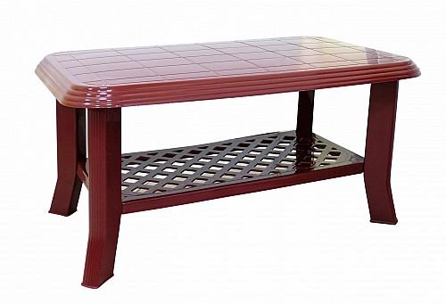 Menší stabilní zahradní stůl CLUB PP 44x55x90 Bordó