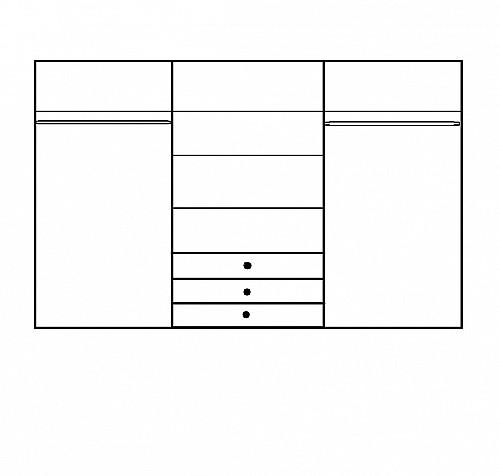 Šatní skříň ROMA LUX 3 dub Sonoma