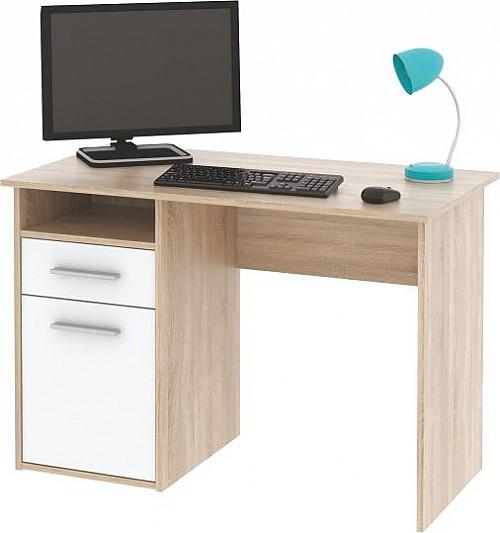 PC stůl MIRO dub Sonoma / bílá
