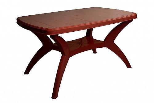 Velký zahradní plastový stůl MODELLO PP 73x75x140 Bordo