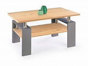 Konferenční stůl DIANA H MDF šedá/ dub zlatý
