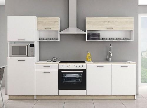 Kuchyňská linka MIKADO 270 cm bílá/dub sonoma