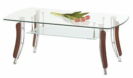 Konferenční stolek BIANCA  wenge / sklo / chrom