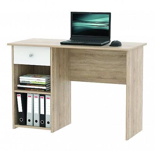 PC stůl KURT dub sv.sonoma /bílá