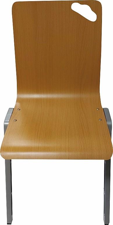Židle stohovatelná sálová buk/kovová konstrukce