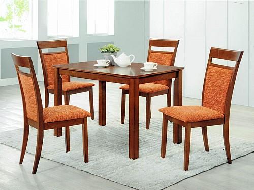 Jídelní stůl MAREK + jídelní židle ANETA 1+4 Ořech / Nikita 81