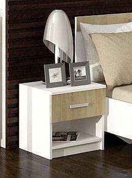 Noční stolek ALEX Dub Sonoma / bílá