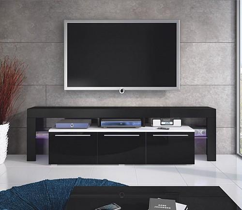 Designový TV stolek BETA 150 PLUS  bílá lesk