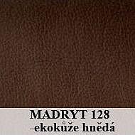 Postel PUPP 140x200 cm vč. roštu Ekokůže hnědá
