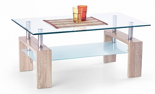 Konferenční stůl DIANA INTRO  Dub sonoma/sklo