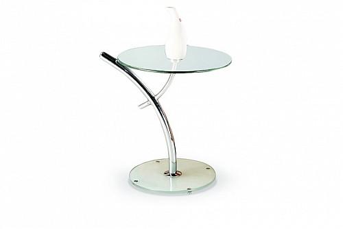 IRIS odkládací stolek chrom/sklo