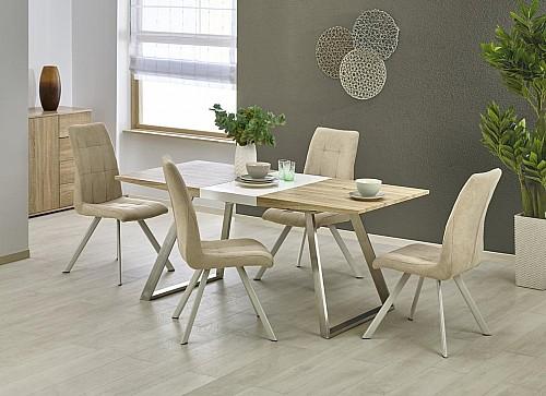 TREVOR jídelní stůl bílá/dub sonoma