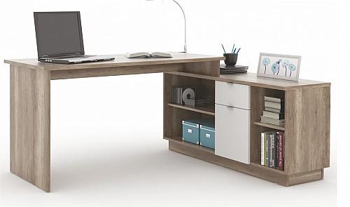 PC stůl VE 02 canyon/bílá